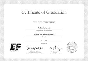 EF Hult International Business School Upper Advanced level