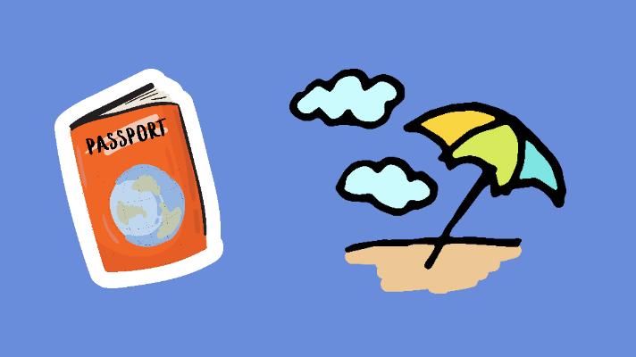 Passport, beach