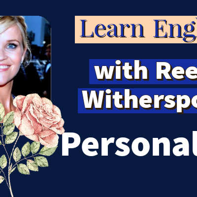 Reese Witherspoon photo, books, a smiling face, a pink rose