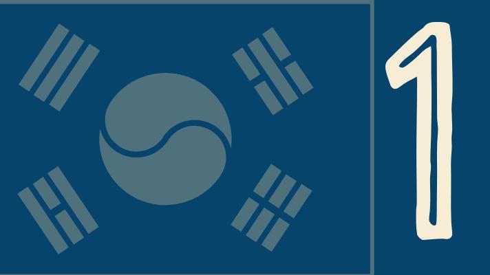 Korean flag, number 1
